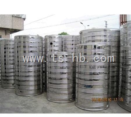不锈钢圆柱形平顶保温水箱参数表   序号 容积(m 3) 板厚(mm) 内胆