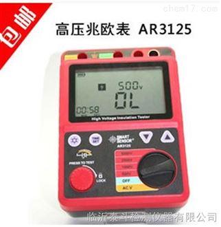 供应山东日照精准AR3125绝缘电阻测试仪兆欧表