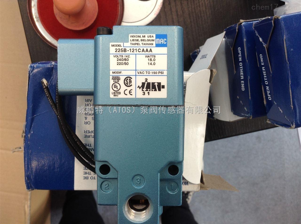 美国MAC 411A-DOA-DM-DDAJ-1JB电磁阀代理