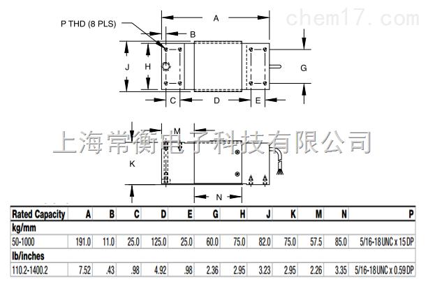 产品展厅 电子电工仪器 传感器 称重传感器 rl1250-75kg 美国rice