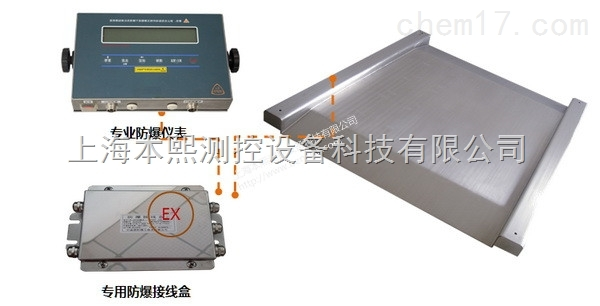 1吨-3吨隔爆地磅上海防爆电子称