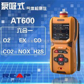 瑞普REAP AT600六合一有毒有害气体检测仪(CO、H2S、O2、Ex、CO2、NOX)