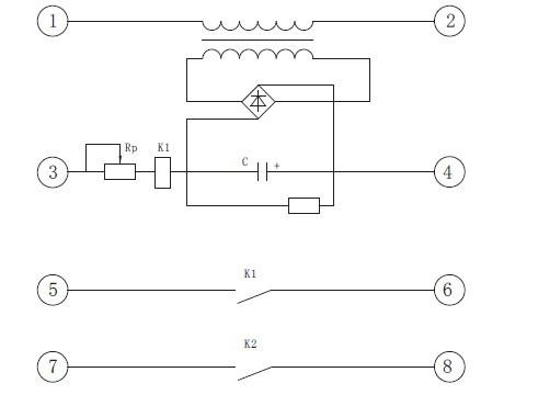装置由变压器,整流桥, J R C -  原理接线图见图1 .  <IMG>当端子○,图片
