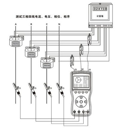 三相三线无功电表接线图
