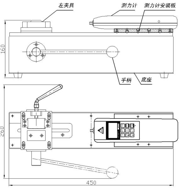 端子拉力测试仪ADL 端子拉力测试仪ADL的产品特点: 端子拉力测试仪ADL,是针对线束及电子行业研制开发的一种检测设备,专用于检测各种线束接线端子的拉脱力。 可配置NK、HF推拉力计和专用夹具,本仪器具有设备小巧、控制准确、测量精度高、试件装夹方便、操作简单等特点,是线束生产厂家确保产品质量的理想设备。 端子拉力测试仪ADL,卧式安装。 手动操作,操作简单稳定。 可将本机台安装于桌(台)上使用,使机架更加稳固。 端子拉力测试仪ADL的技术参数: 外形尺寸:450*260*160mm长*宽*高。