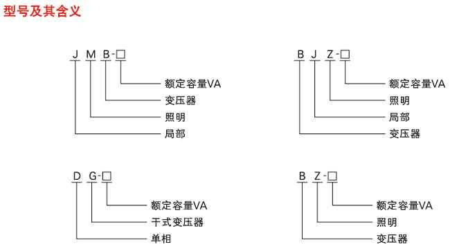 照明行灯变压器接线图