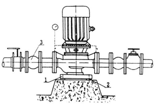 立式管道离心泵安装示意图