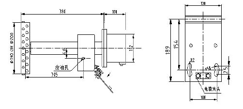 速度检测器有电源,报警点动作的led显示,便于调试,观察. 安装实物图